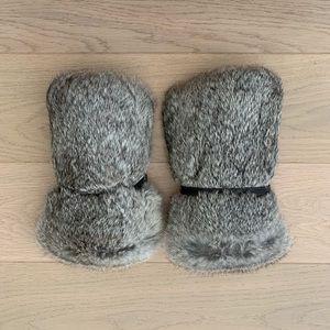 NWOT Rabbit Fur Arm/Leg Warmer Cuffs